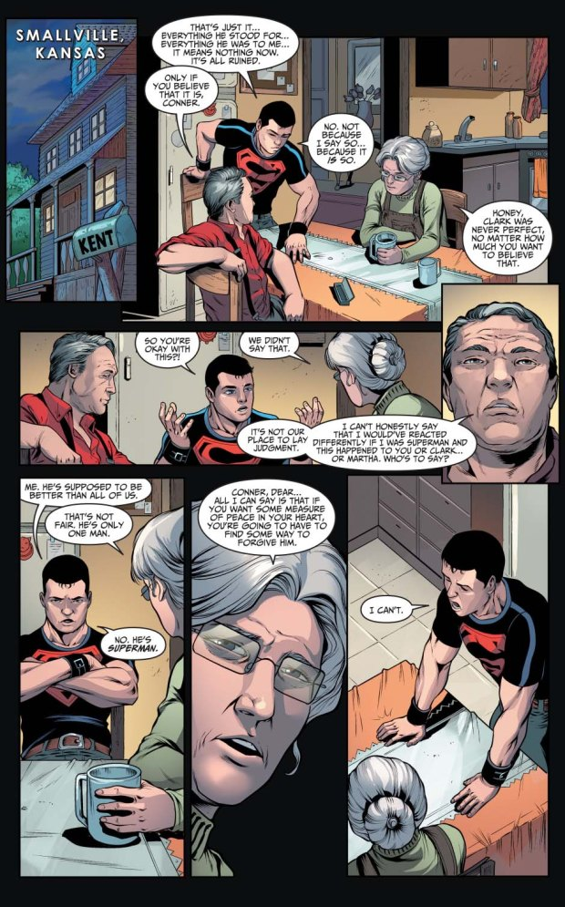superboy loses faith in superman