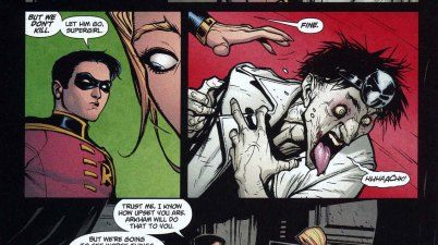 supergirl meets the joker