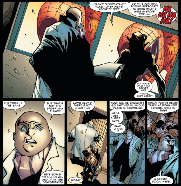 superior spider-man scares the kingpin