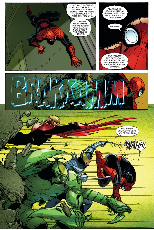 superior spider-man vs the vulture, the scorpion and boomerang