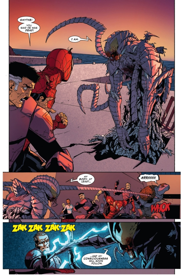 the spider-slayer tries to steal superior spider-man's body