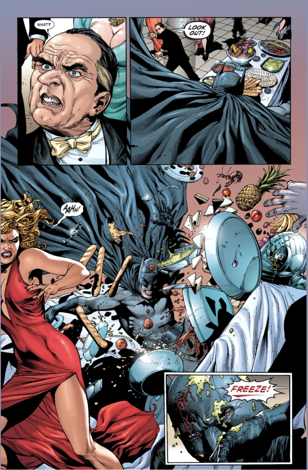batman crashes into cobblepot's party