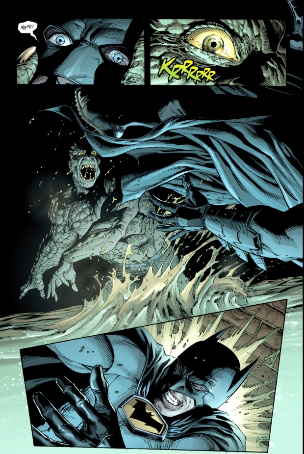 batman vs killer croc (earth one)