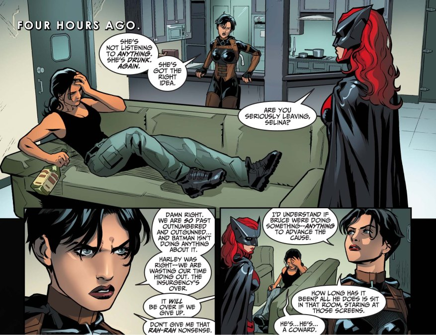 catwoman quits the birds of prey