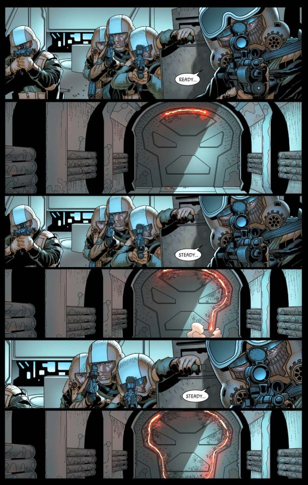 darth vader attacks cylo IV's secret base
