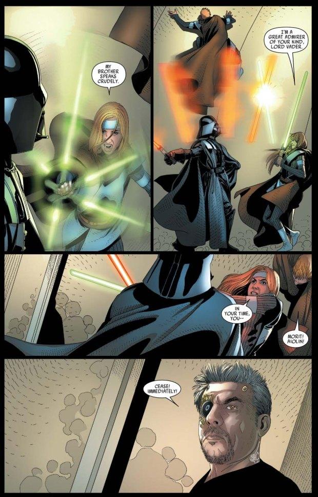 Darth Vader VS Aiolin And Morit