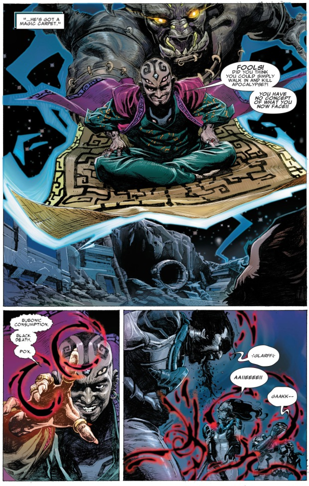death takes out wolverine, psylocke and fantomex