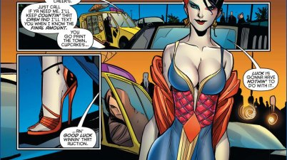 harley quinn attracts an old guy