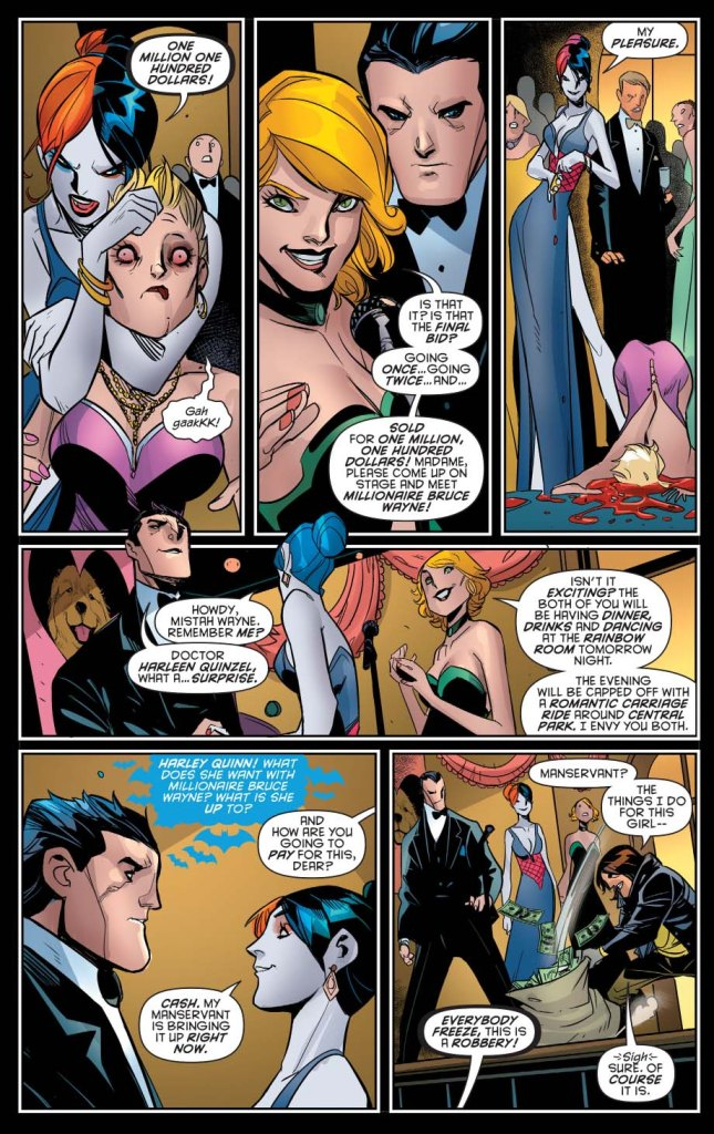 harley quinn bids for bruce wayne
