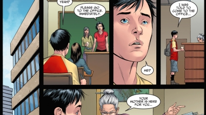 harley quinn gets billy batson out of school