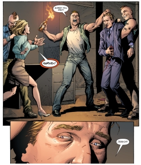 harvey dent's face is burned off (earth 1)