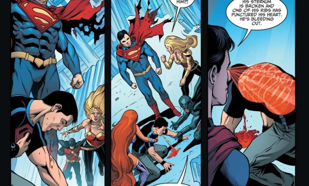 how superman took out the teen titans