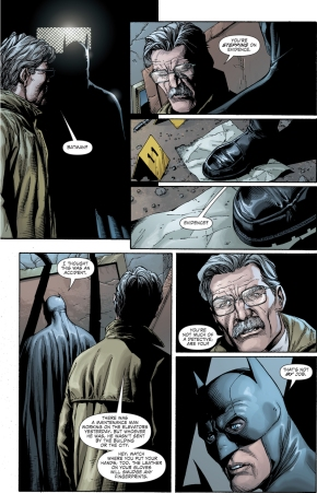 jim gordon schools batman on crime scenes