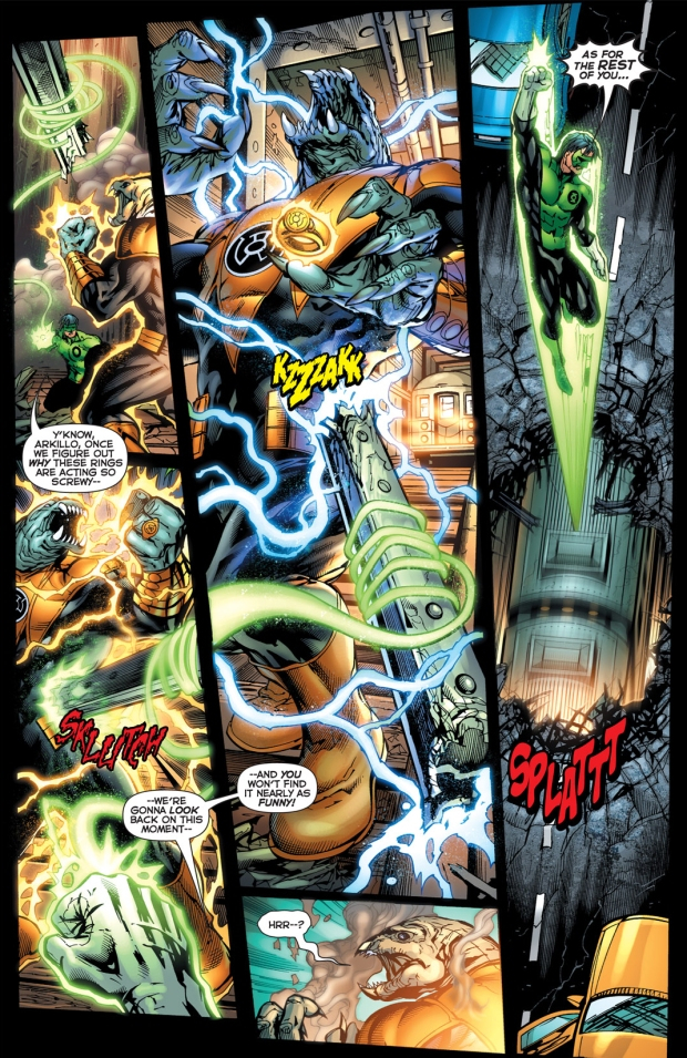 kyle rayner vs bleeze and arkillo