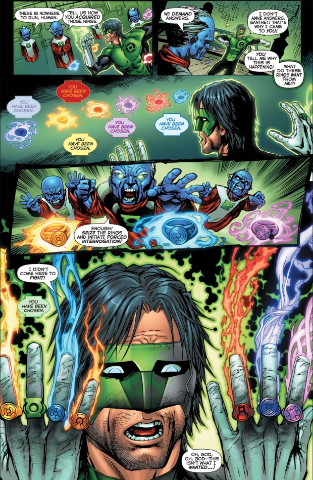 kyle rayner wearing all 7 rings