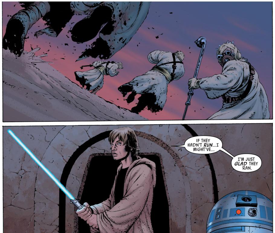 Luke Skywalker Vs Tusken Raiders Comicnewbies
