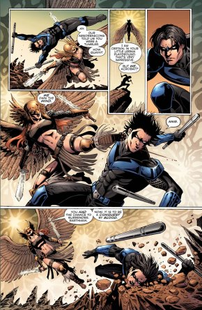 nightwing vs hawkgirl (convergence)