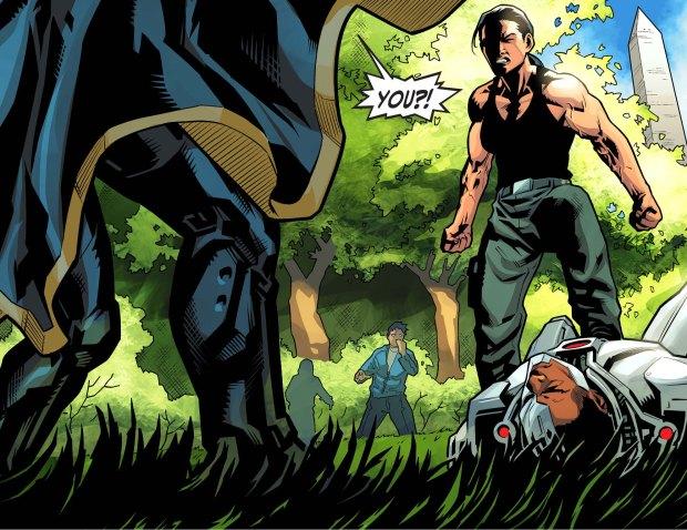 renee montoya takes out cyborg