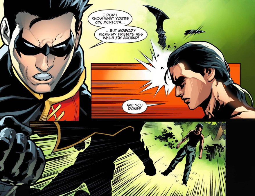 renee montoya vs robin (injustice gods among us)