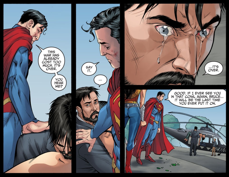 superman lets bruce wayne escape