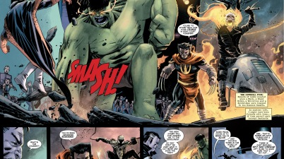 The Punisher VS The Infernal Four (Battleworld)
