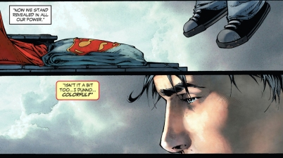 the reason for superman's costume (earth 1)