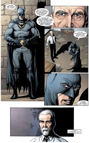 why batman doesn't wear body armor (earth 1)