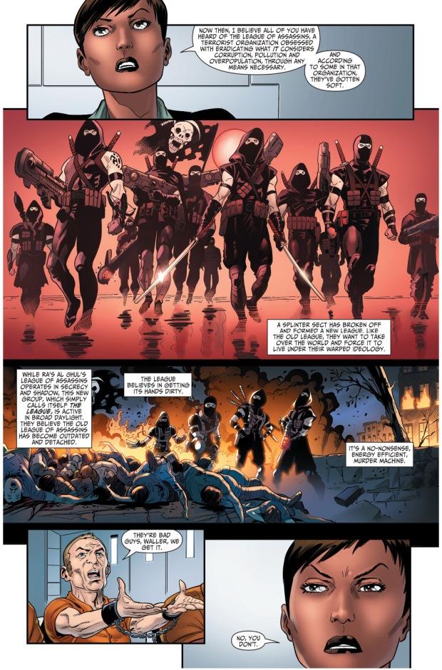 amanda waller describes the new league of assassins