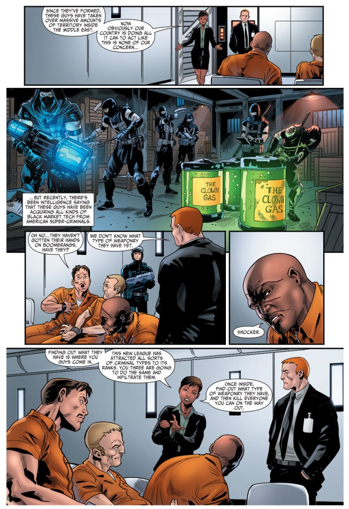 amanda waller describes the new league of assassins