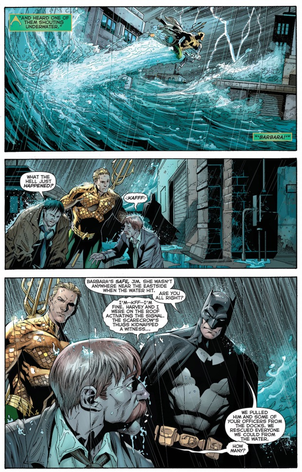 aquaman saves jim gordon and harvey bullock