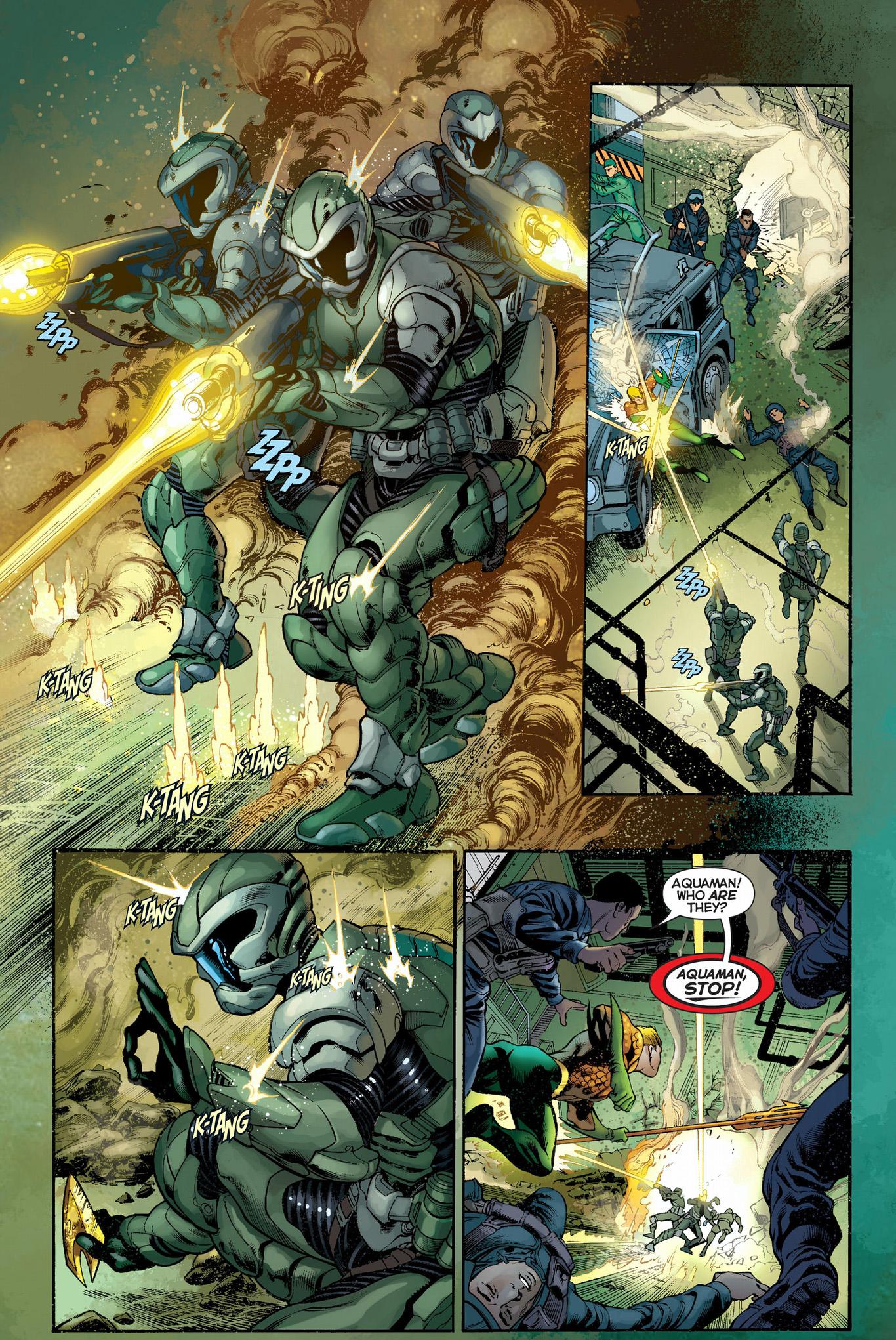Aquaman VS Atlantean Commandos | Comicnewbies