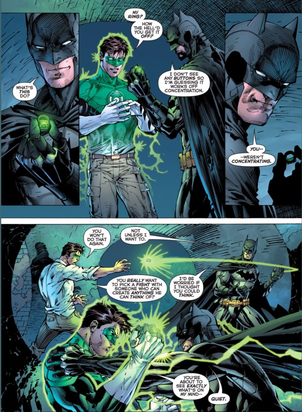 batman can take green lantern's ring