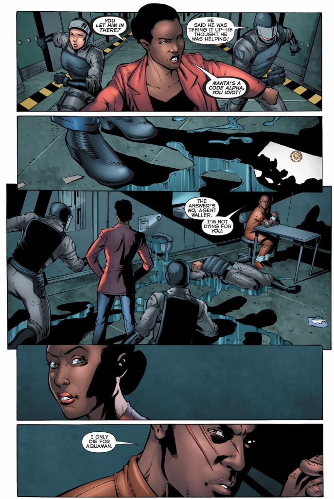 black manta refuses to join the suicide squad