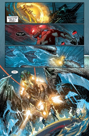 black manta working with atlanteans