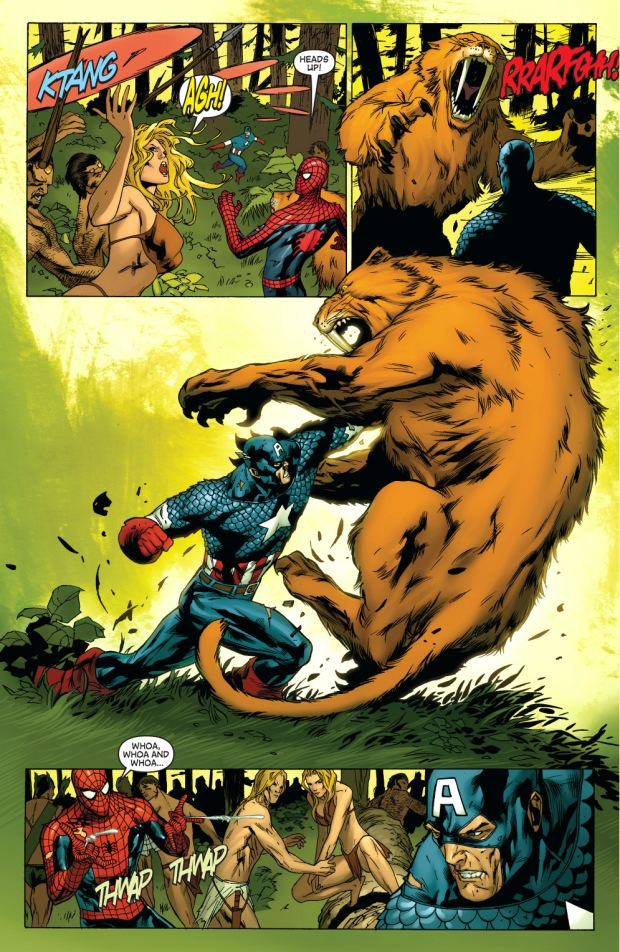 captain america (skrull) vs ka-zar