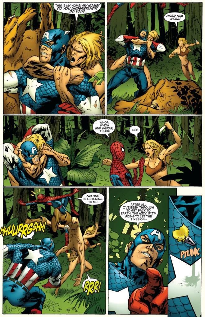 captain america (skrull) vs ka-zar