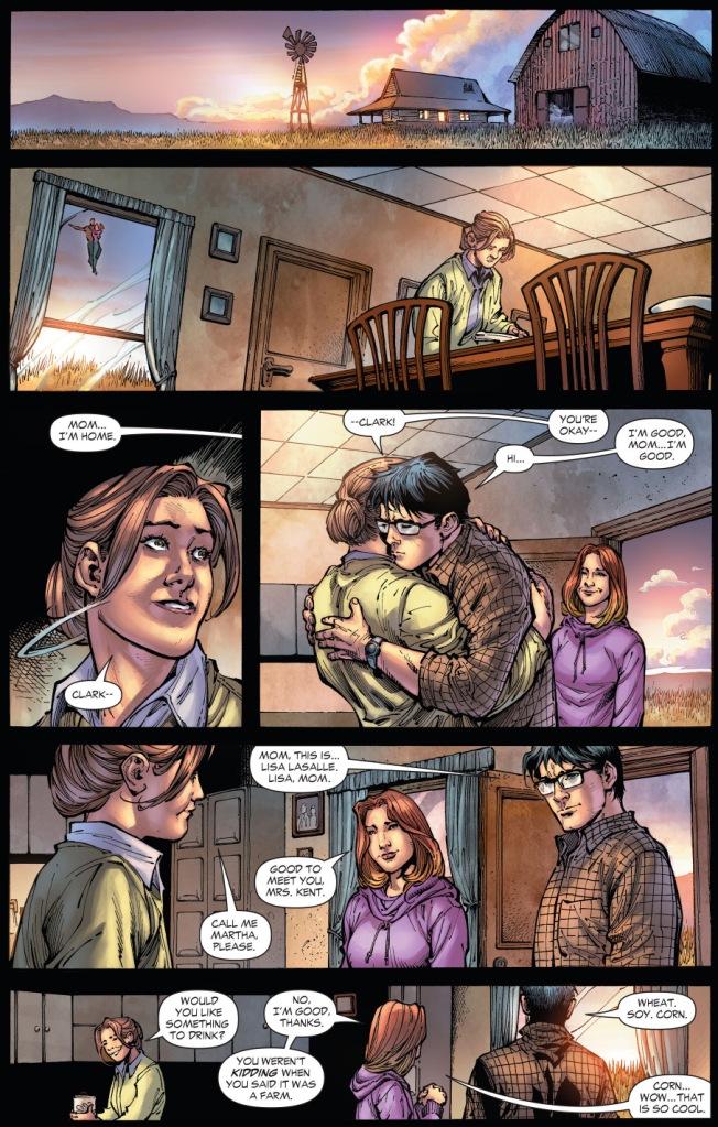 clark kent takes lisa lasalle home to smallville