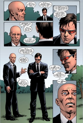 cyclops boots professor x out of the x-men