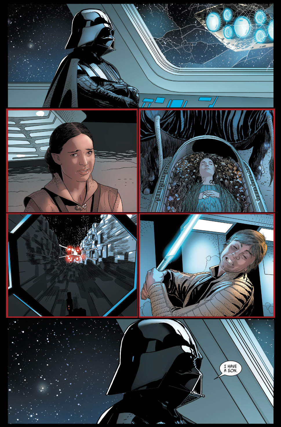 darth vader learns luke is his son comicnewbies. Black Bedroom Furniture Sets. Home Design Ideas