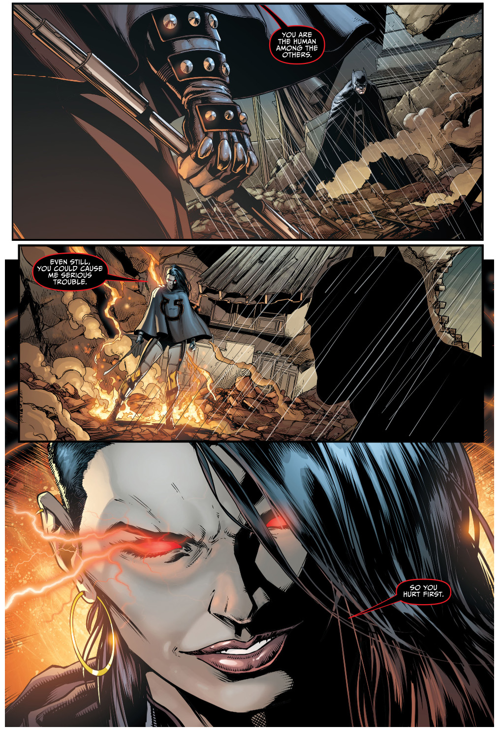 Grail is the daughter of darkseid from an amazonian assassin named