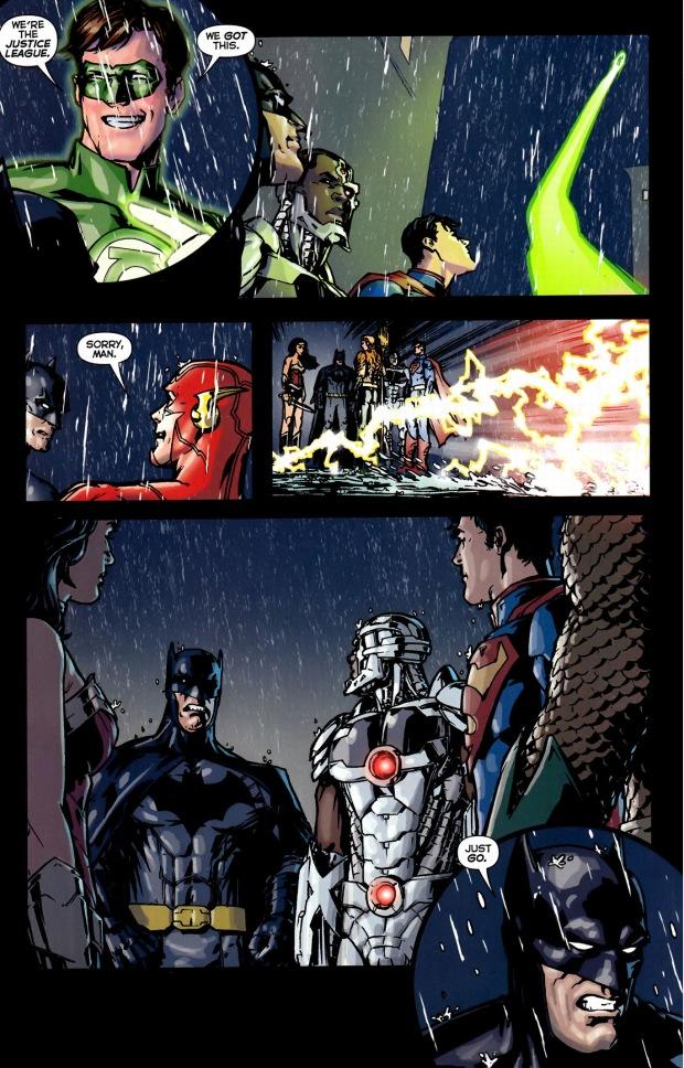 green lantern taunting batman