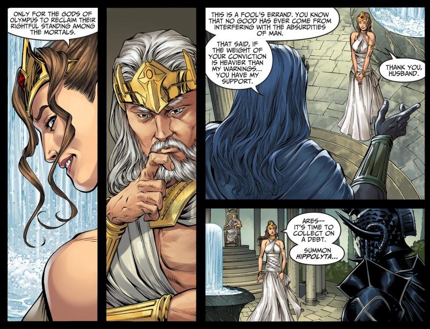 how hera convinced zeus to challenge superman