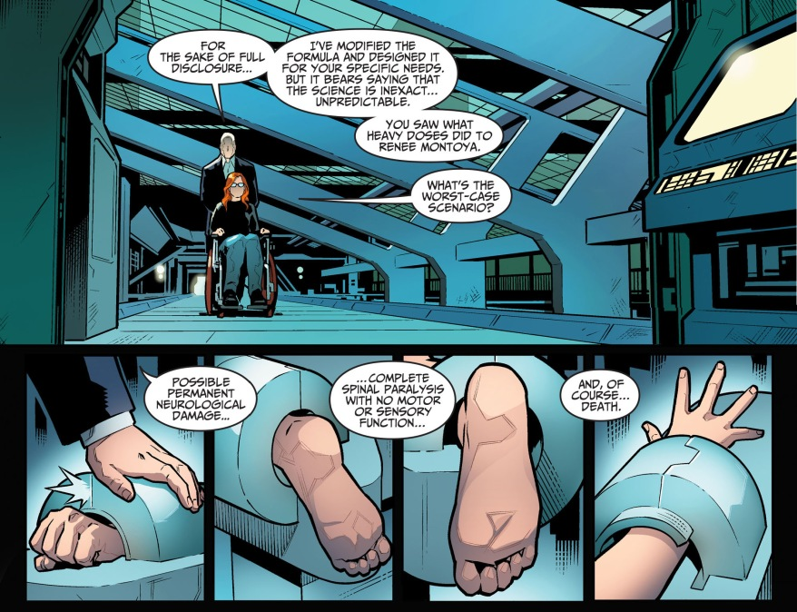 lex luthor heals barbara gordon's legs