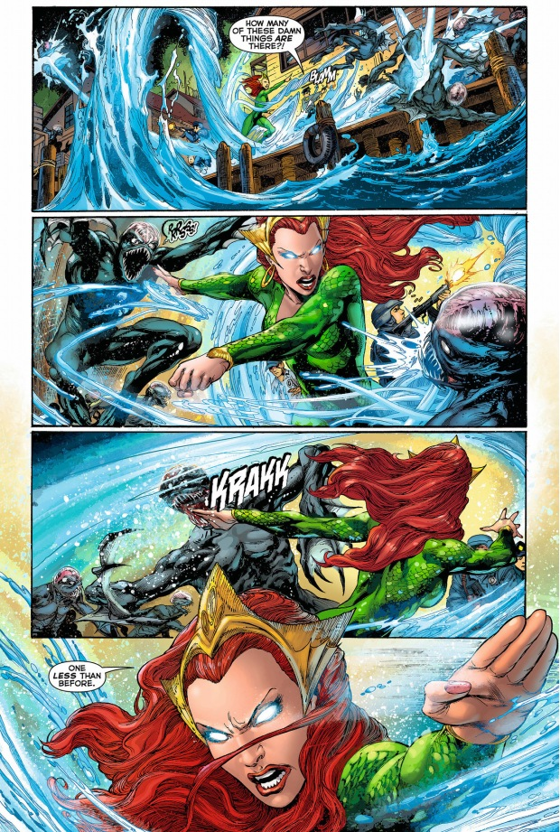 mera and aquaman vs the trench