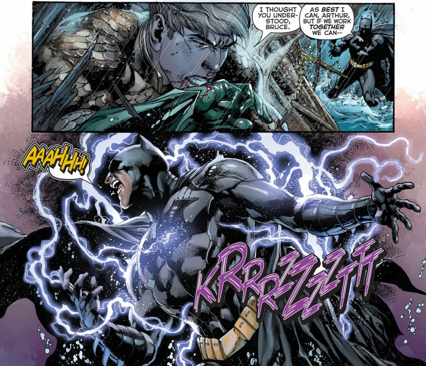 ocean master takes out batman