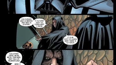 palpatine reminds darth vader of the way of the sith