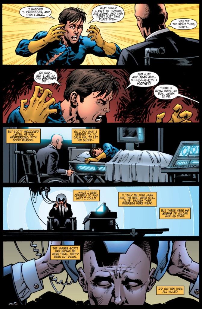 professor x erases cyclops's memory of vulcan