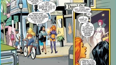 starfire goes shopping