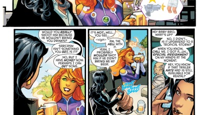 starfire has her first beer