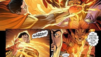 superman vs etrigan (injustice gods among us)